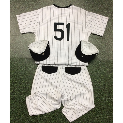 Photo of Freddy Peralta 2019 Authenticated Milwaukee Bears Uniform (Game-Used Jersey, Game-Used Cap, Game-Used Cap, Team-Issued Pants)