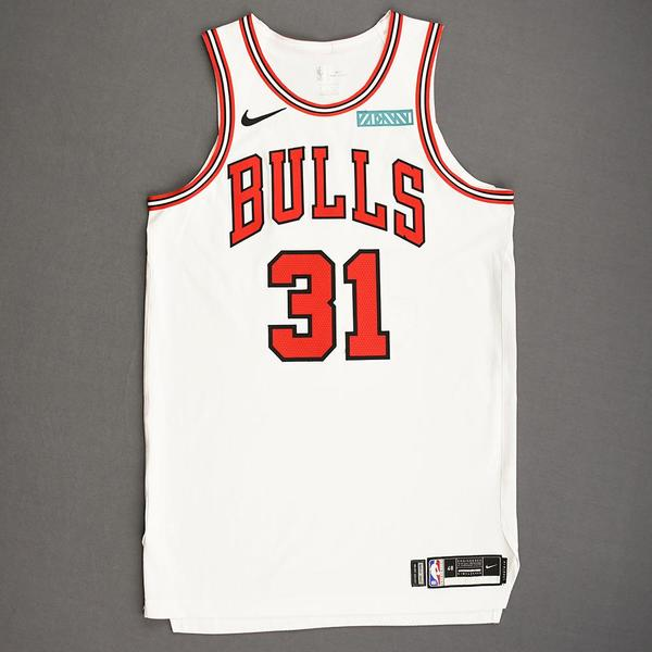 Image of Tomas Satoransky - Chicago Bulls - Kia NBA Tip-Off 2019 - Game-Worn Association Edition Jersey - Bulls' Debut