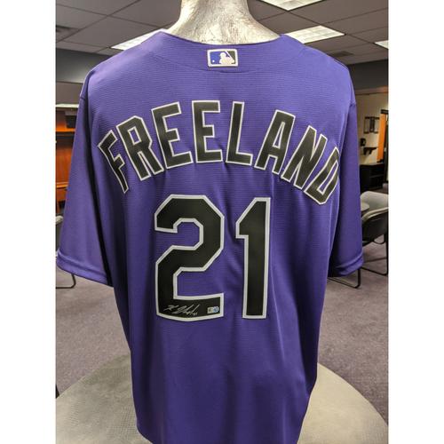 Photo of Colorado Rockies Autographed Alternate Purple Jersey: Kyle Freeland