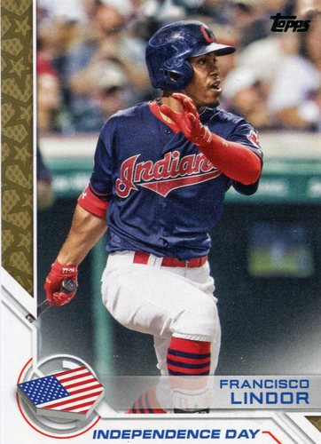 Photo of 2017 Topps Independence Day #ID27 Francisco Lindor