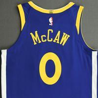 Patrick McCaw - Golden State Warriors - NBA China Games - Game-Worn Icon Edition Jersey - 2017-18 NBA Season