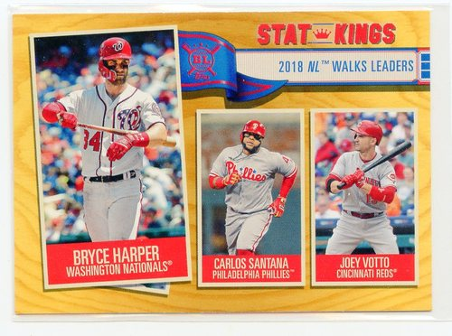 Photo of 2019 Topps Big League Gold #354 Carlos Santana/Joey Votto/Bryce Harper