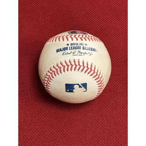 Photo of Game-Used Baseball, 8/18/20 Oakland A's at Arizona Diamondbacks: Luke Weaver vs. Sean Murphy (Doubled, Scored Stephen Piscotty)