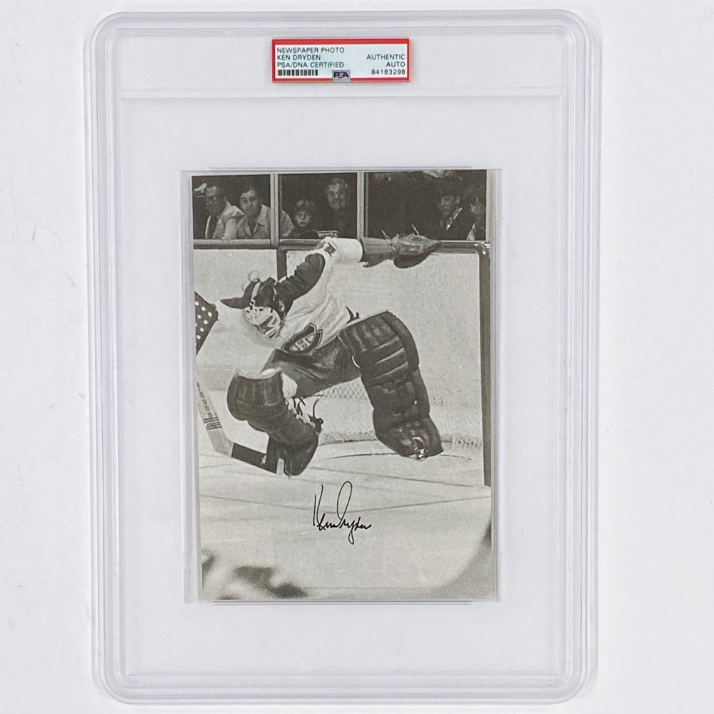 Ken Dryden Autographed Book Page - PSA/DNA Certified