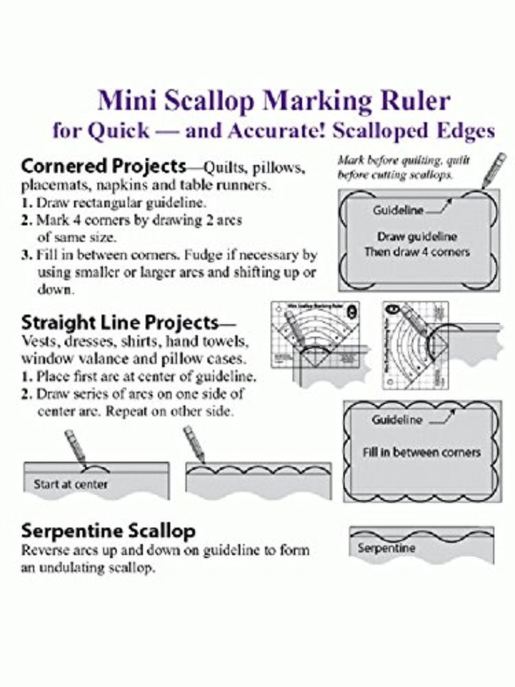 Photo of Mini Scallop Marking Ruler