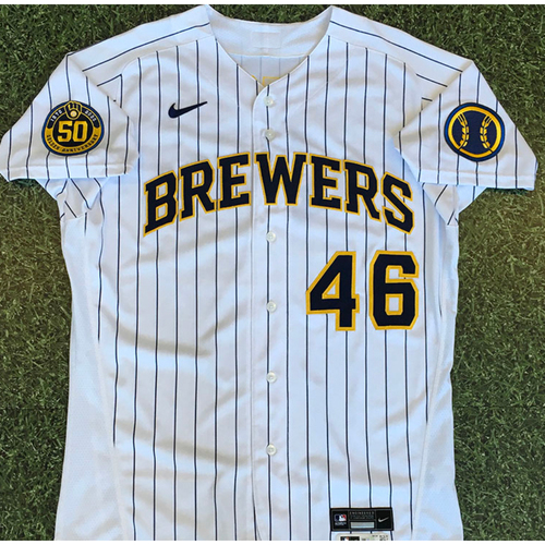 Photo of Corey Knebel 2020 Team-Issued Home Pinstripe Jersey