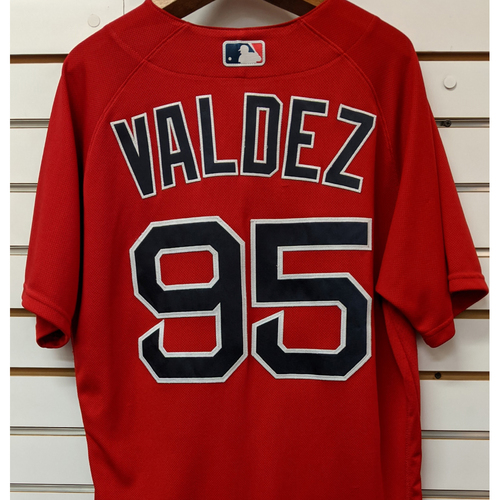 Photo of Phillips Valdez #95 Team Issued Nike Red Spring Training Jersey