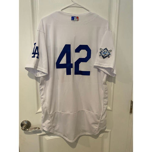 Photo of Scott Alexander Game-Used Jackie Robinson Day Jersey - Size 44C