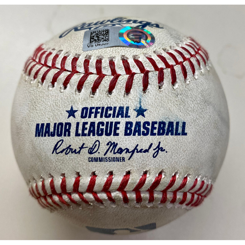 Photo of Game-Used Baseball: Hunter Renfroe Boston Red Sox Double (MLB AUTHENTICATED)