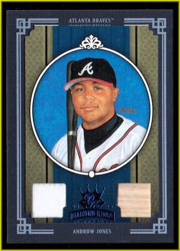 Photo of 2005 Diamond Kings Materials Framed Blue #19 Andruw Jones Bat-Jsy