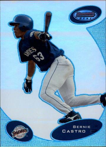 Photo of 2003 Bowman's Best Blue #BC Bernie Castro FY