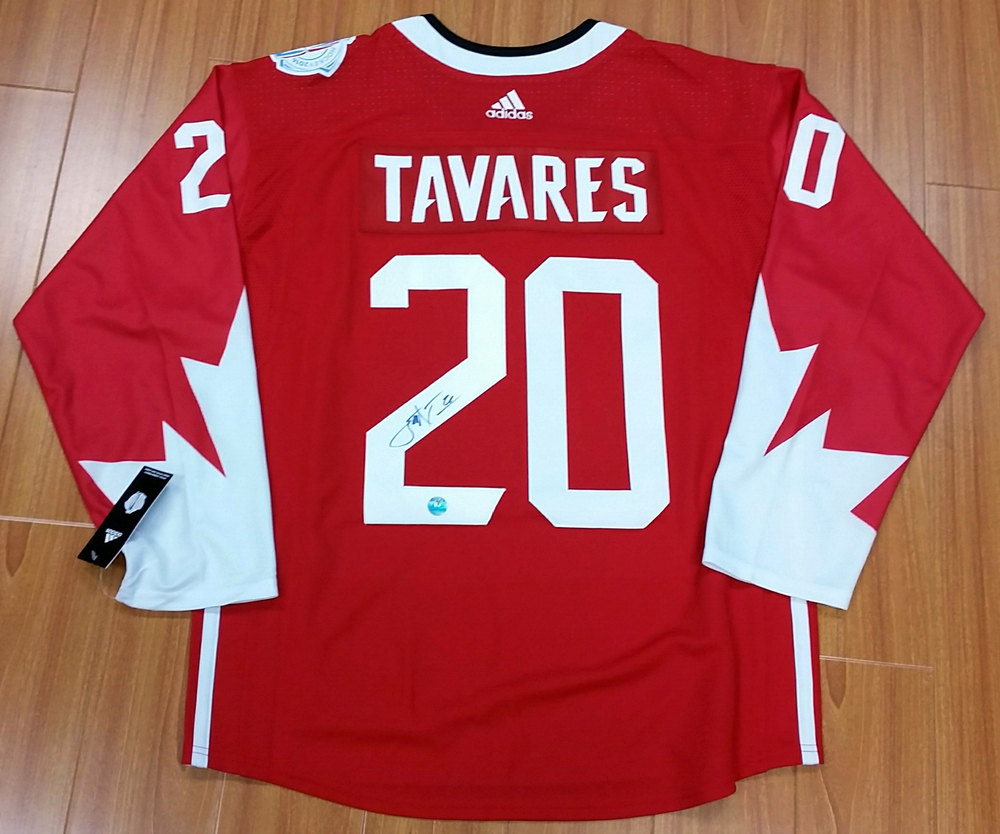 release date: 86c44 70892 John Tavares Team Canada Autographed World Cup of Hockey ...