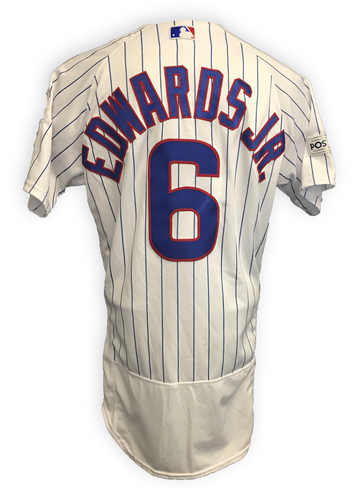 Carl Edwards, Jr. 2017 Postseason Game-Used Jersey -- 10/9 vs. Nationals: NLDS Game 3 -- 10/18 vs. Dodgers: NLCS Game 4