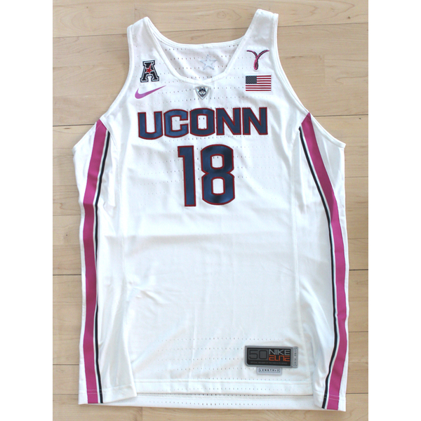 0767431cb7c1 UConn 2018 Pink Game Special Edition  18 Nike Women s Basketball Jersey  Signed by Geno Auriemma