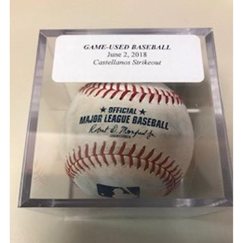 Photo of Game-Used Baseball: Nicholas Castellanos Strikeout by J.A. Happ