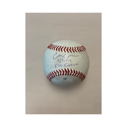 Photo of Autographed Game-Used Casey Mize Baseball: FSL Debut