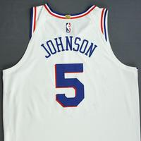 Amir Johnson - Philadelphia 76ers - Christmas Day' 18 - Game-Worn Earned City Edition Jersey - Dressed, Did Not Play