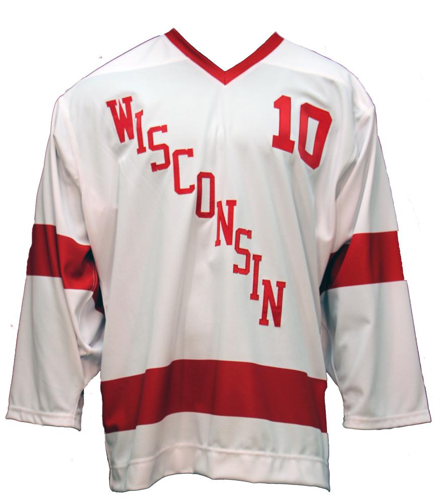 Wisconsin Hockey Mark Johnson Commemorative White Jersey - Size 52 (1 of 2)