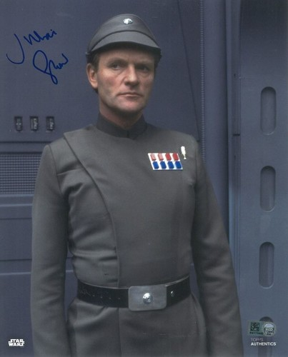 PREORDER Julian Glover As General Veers 8X10 Autographed in Blue Ink Photo