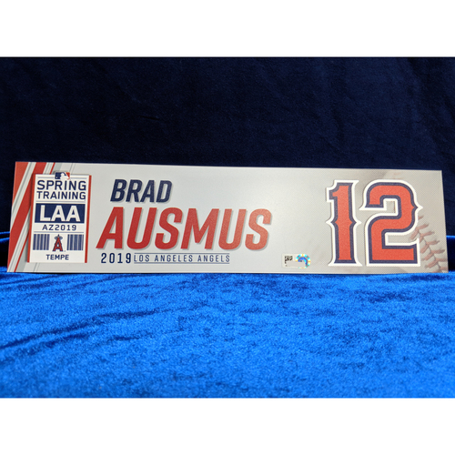 Photo of Brad Ausmus Team-Issued 2019 Spring Training Locker Tag