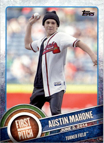 Photo of 2015 Topps First Pitch #FP07 Austin Mahone