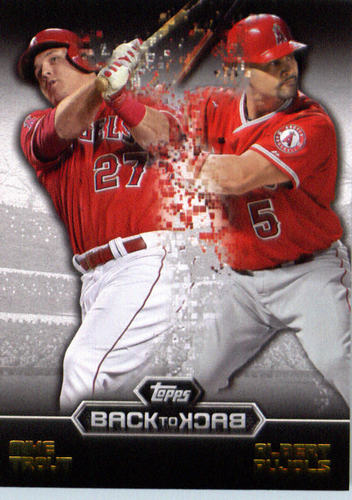 Photo of 2016 Topps Back to Back #B2B11 Albert Pujols/Mike Trout