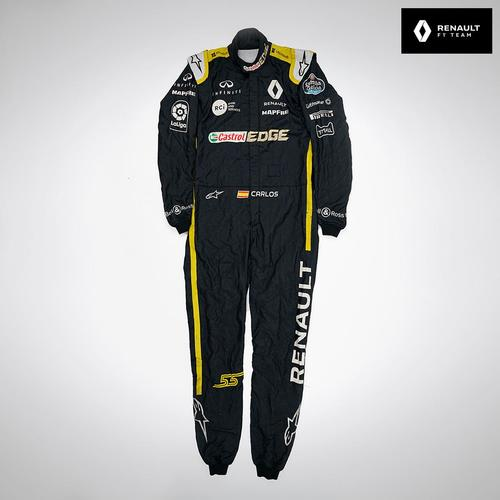 Photo of Carlos Sainz 2018 Race-worn Race Suit - Renault F1 Team