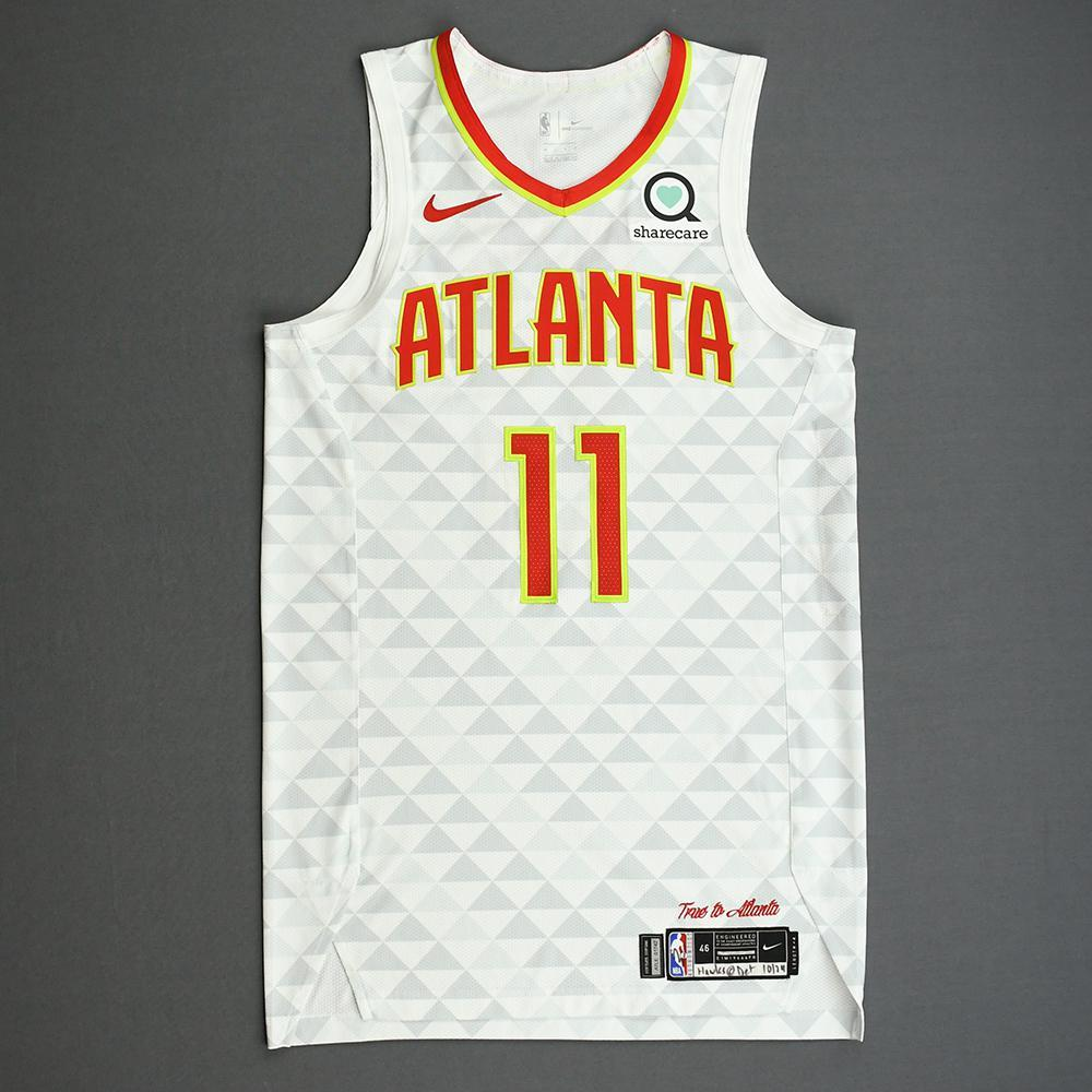 Trae Young - Atlanta Hawks - Kia NBA Tip-Off 2019 - Game-Worn Association Edition Jersey - Scored Game-High 38 Points