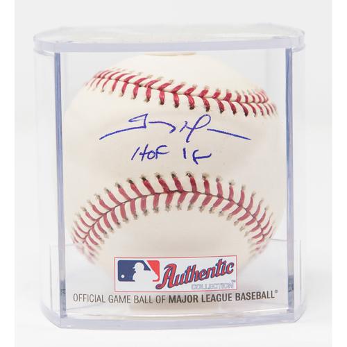 Photo of Trevor Hoffman Autographed Baseball - HOF 18 Inscription