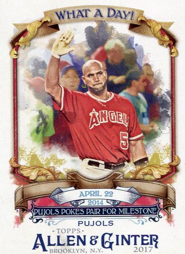 Photo of 2017 Topps Allen and Ginter What a Day #WAD48 Albert Pujols