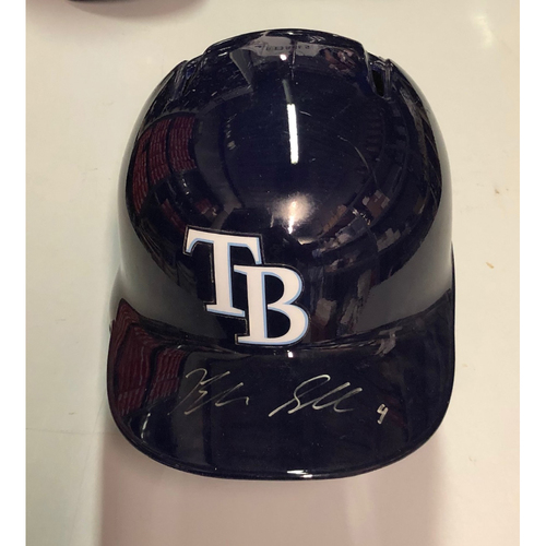 Photo of Team Issued Autographed Helmet: Blake Snell