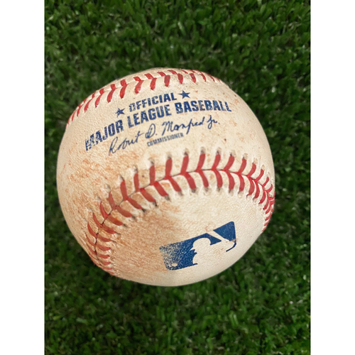 Photo of Game Used Baseball - Batter: Bryce Harper, Pitcher: AJ Minter, Ball in Dirt - 8/22/20