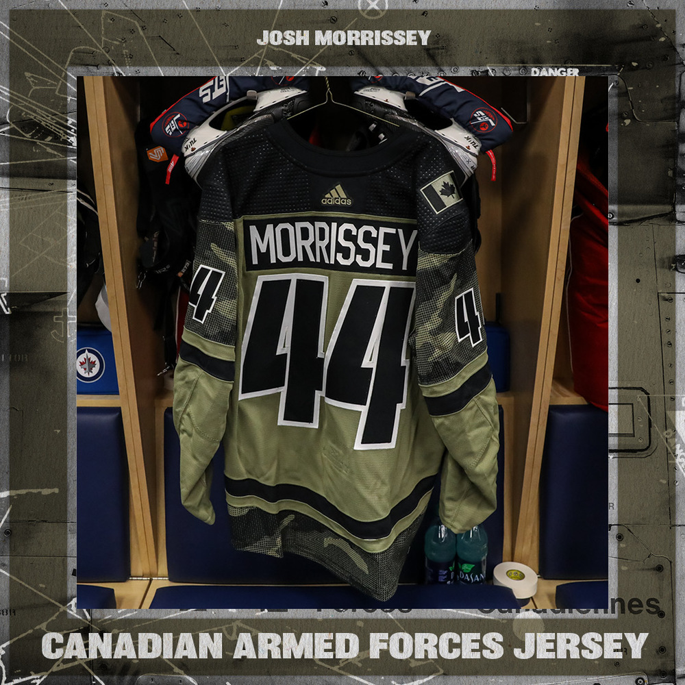 JOSH MORRISSEY (A) Warm Up Worn Canadian Armed Forces Jersey