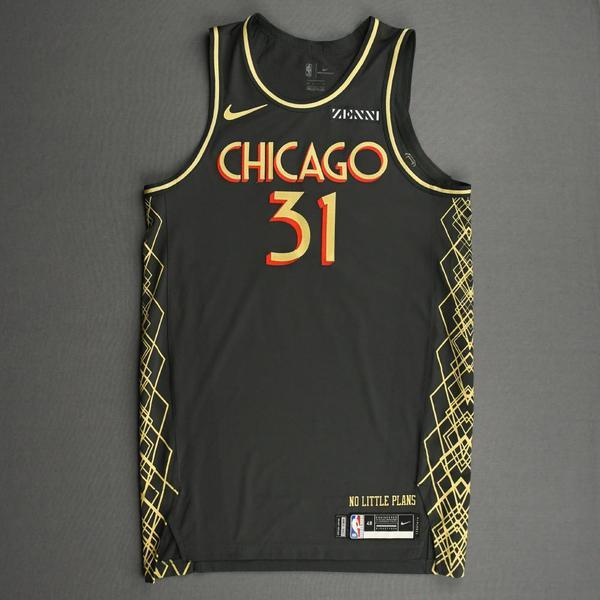 Image of Tomas Satoransky - Chicago Bulls - City Edition Jersey - 2020-21 NBA Season