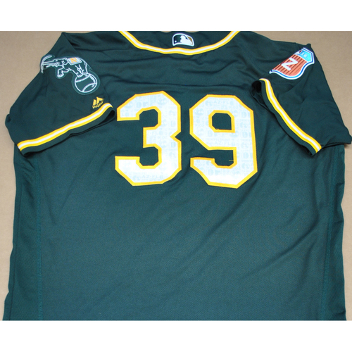 Photo of Game-Used 2016 Spring Training Jersey - Blair Carson - Size 46 - Oakland Athletics