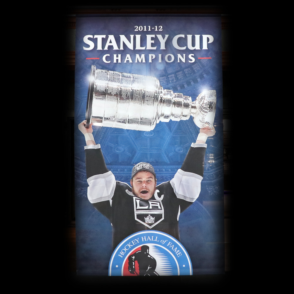 LA Kings Stanley Cup Champions 2012 Banner (5ft x 9ft) Featuring Captain Dustin Brown - Limited Edition 1/1