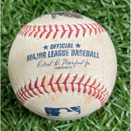 Photo of Game Used Baseball: Rafael Devers RBI Double off Ryan Yarbrough - April 19, 2019 v BOS
