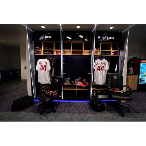 Photo of 2021 All-Star Game Clubhouse Chair Panel from J.T. Realmuto's  Locker Chair
