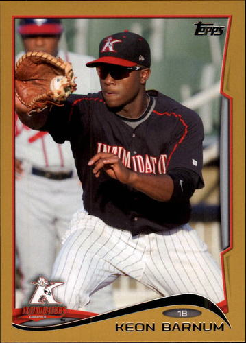 Photo of 2014 Topps Pro Debut Gold #79 Keon Barnum