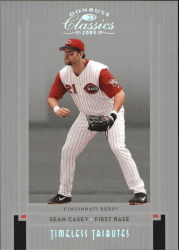 Photo of 2005 Donruss Classics Timeless Tributes Silver #92 Sean Casey