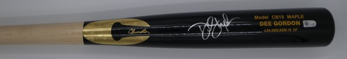 Dee Gordon Autographed Game Model Chandler Bat