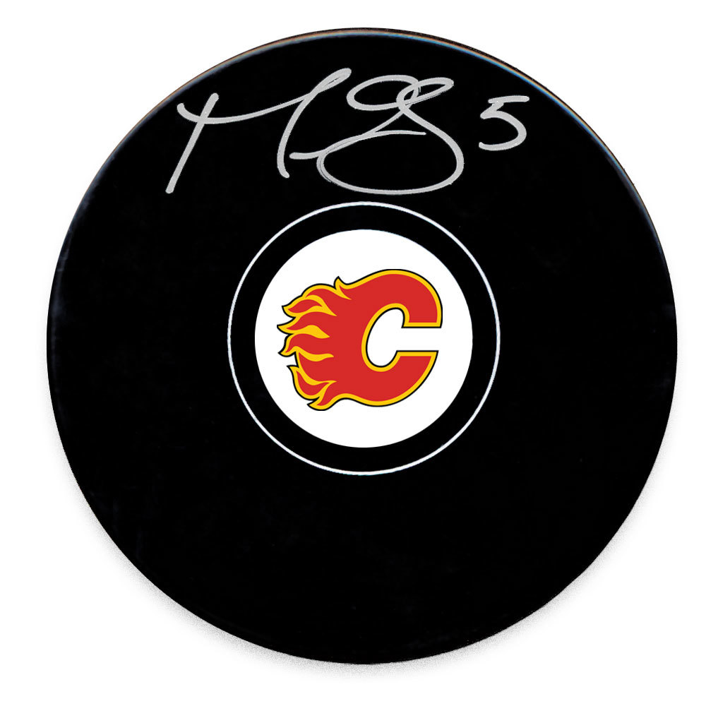 Mark Giordano Calgary Flames Autographed Puck