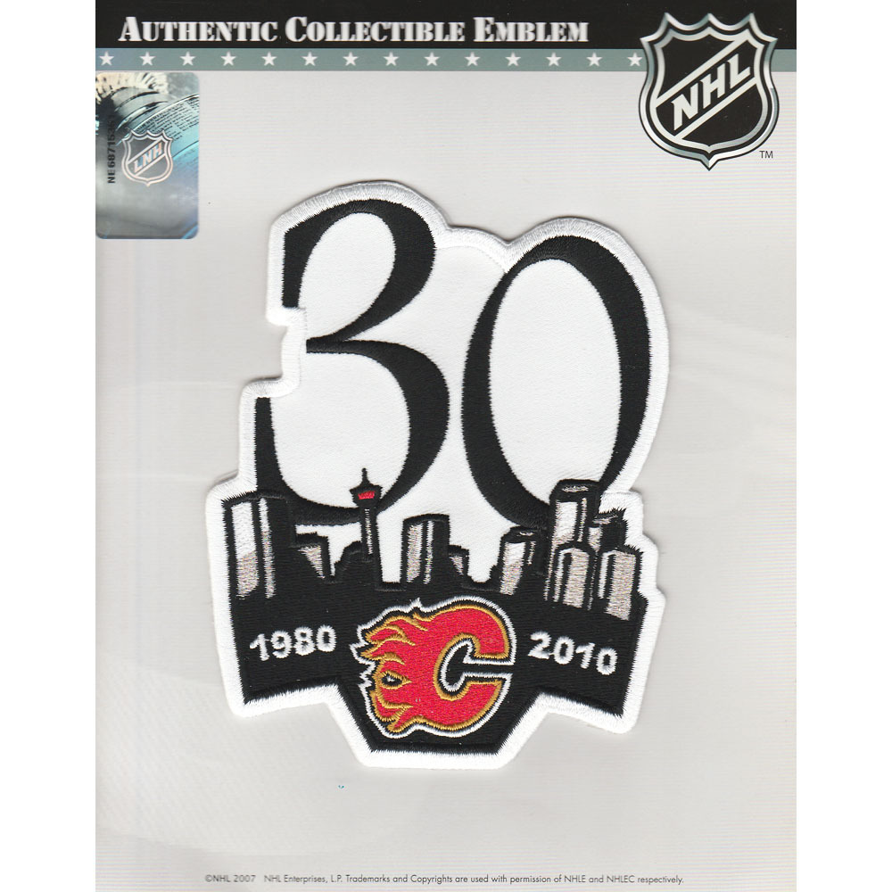 Calgary Flames 30th Anniversary Jersey Patch