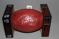 NFL - PATRIOTS TOM BRADY SIGNED AUTHENTIC FOOTBALL W/ SUPER BOWL LI LOGO