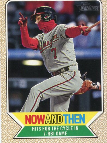 Photo of 2017 Topps Heritage Now and Then #NT11 Trea Turner
