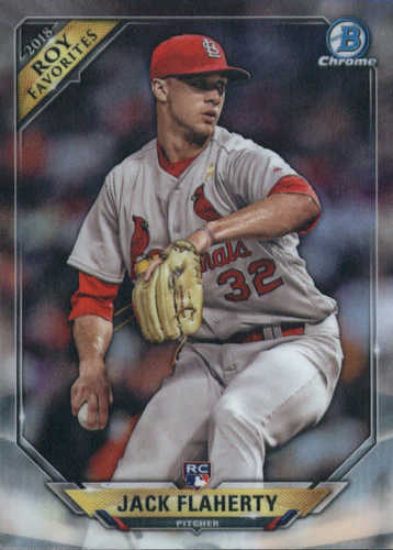 Photo of 2018 Bowman Chrome Rookie of the Year Favorites Refractors #ROYFJF Jack Flaherty