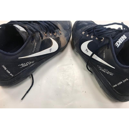 Photo of Game-Used Autographed Cleats: James McCann