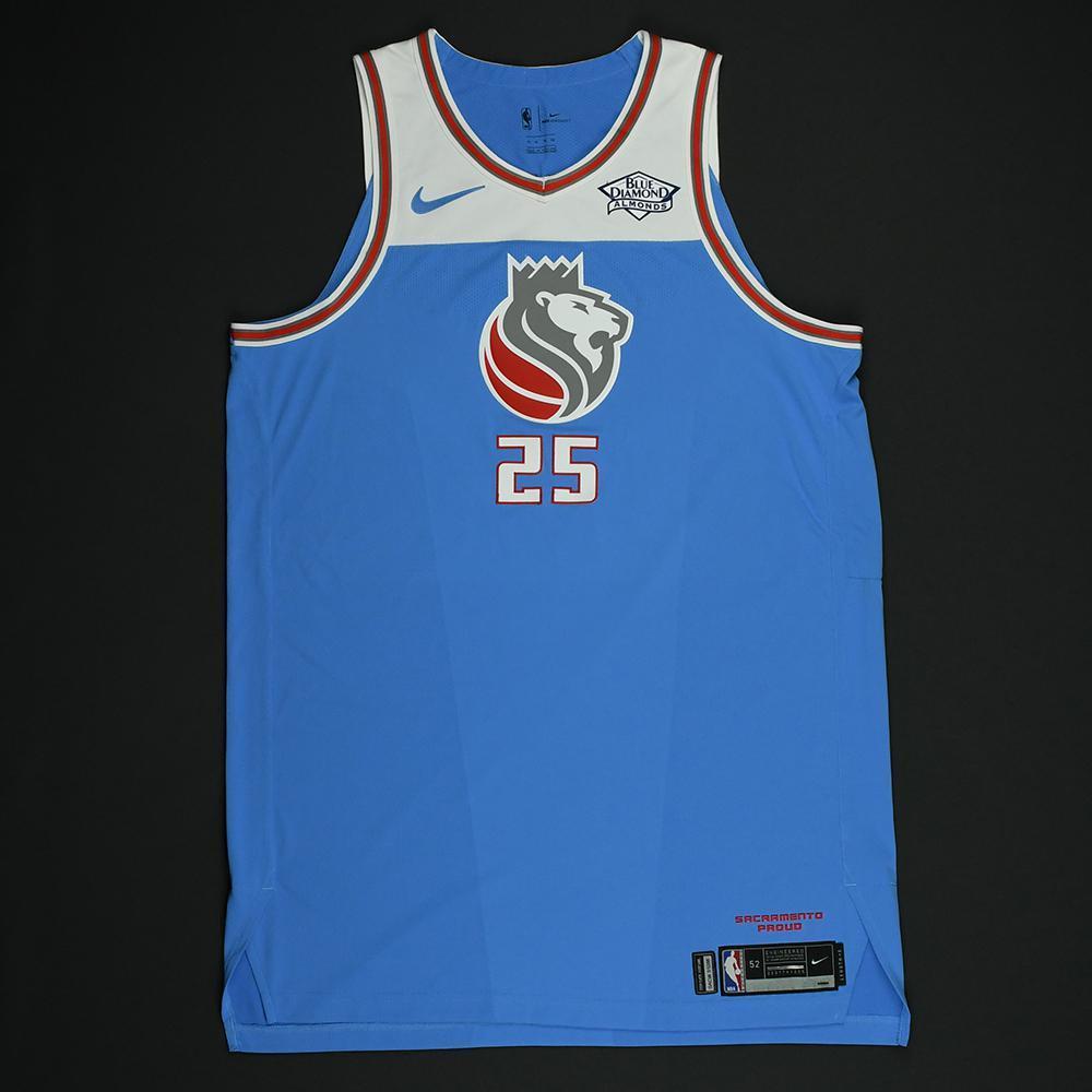 sports shoes 34807 56b40 Justin Jackson - Sacramento Kings - Game-Worn 'City' Jersey ...