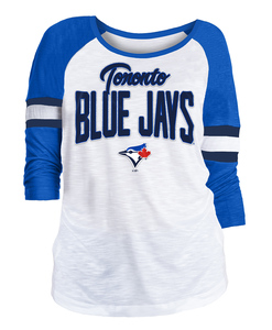 Toronto Blue Jays Women's Slub Jersey 3/4 Raglan by New Era