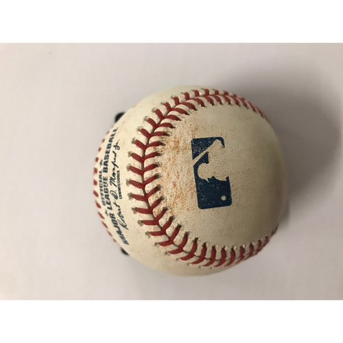 Photo of Scooter Gennett Game Used Hit Double Baseball - 6/27/2018